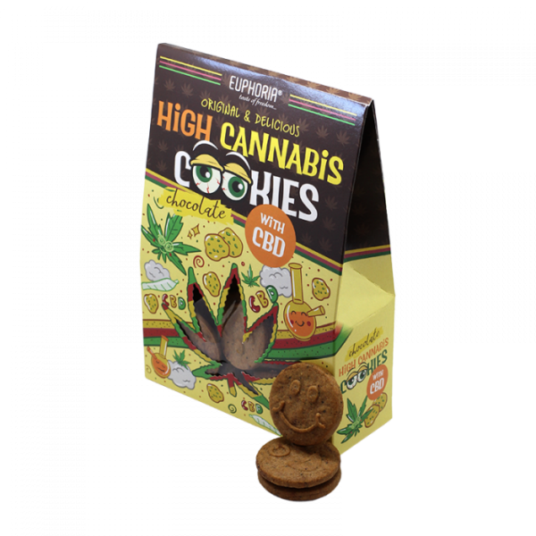 Euphoria High Cannabis Cookies Chocolate 100 gr