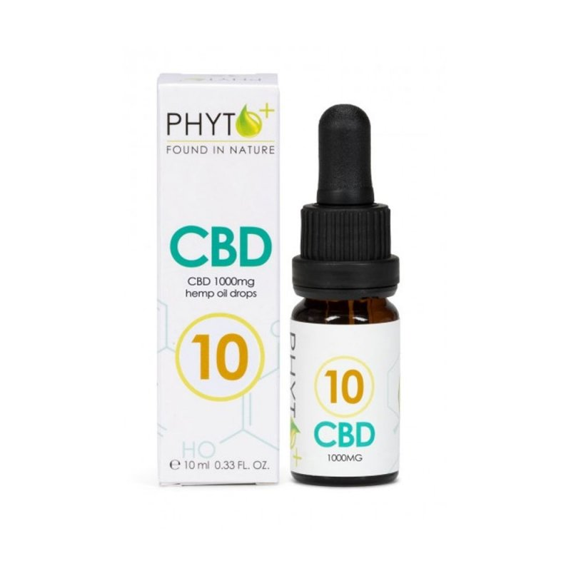PHYTO+ ORGANIC CBD OIL DROPS 10% – 1000MG CBD – 10ML